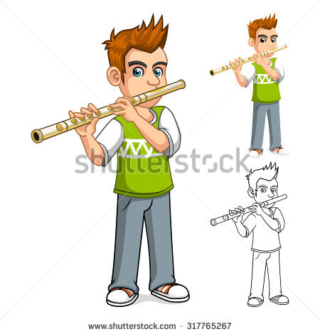 Flute Player Stock Vectors, Images & Vector Art.