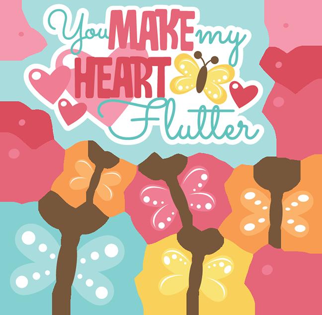 Clip Art Hearts a Flutter.