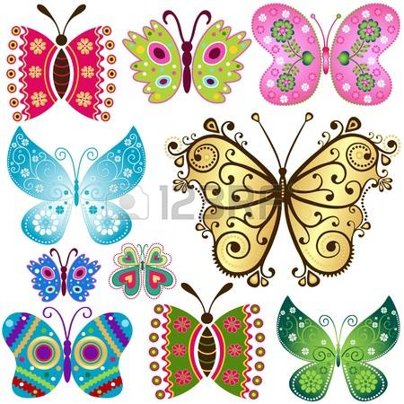 1,393 Butterflies Fluttering Stock Vector Illustration And Royalty.