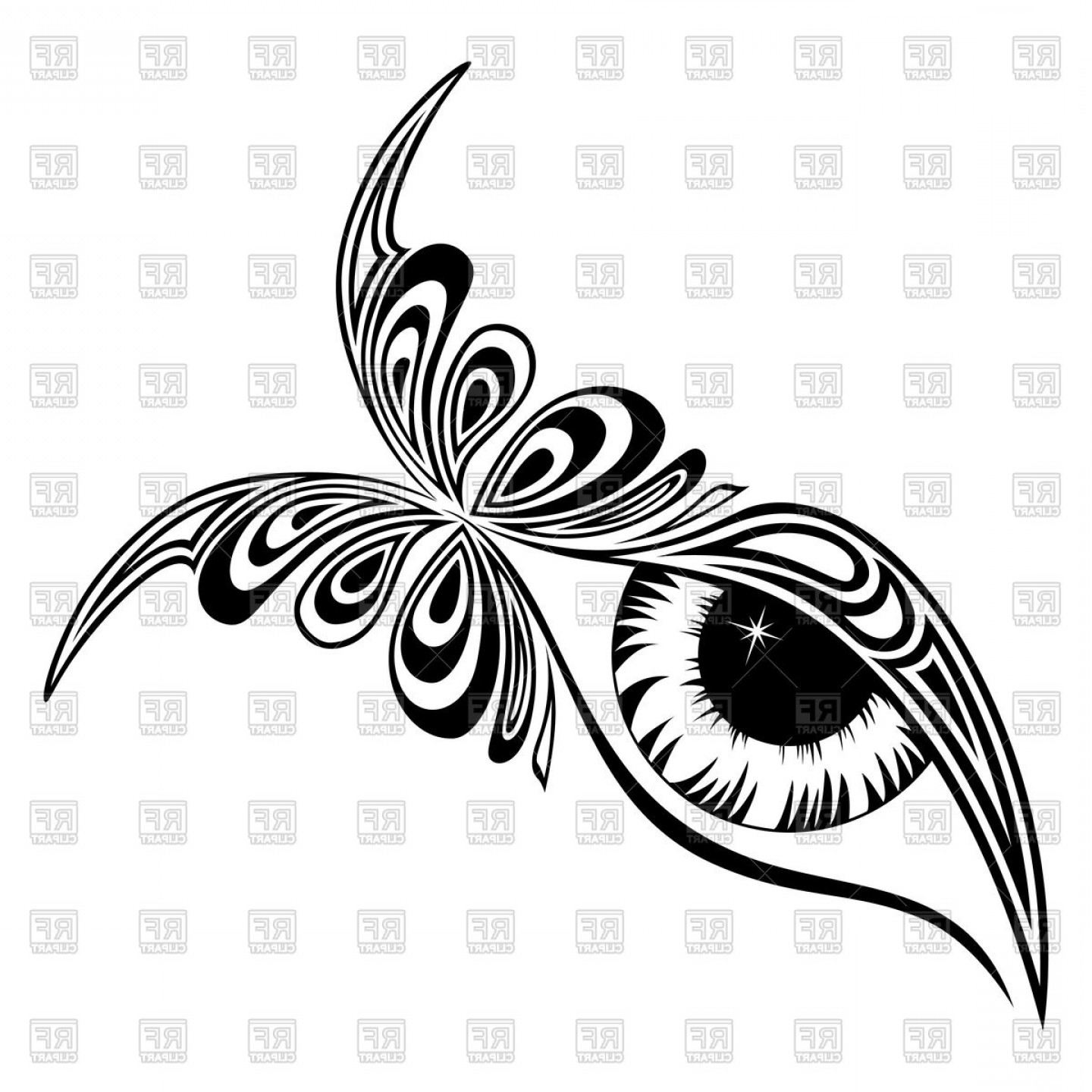 Best Tribal Flux Tattoo Vector Graphic.