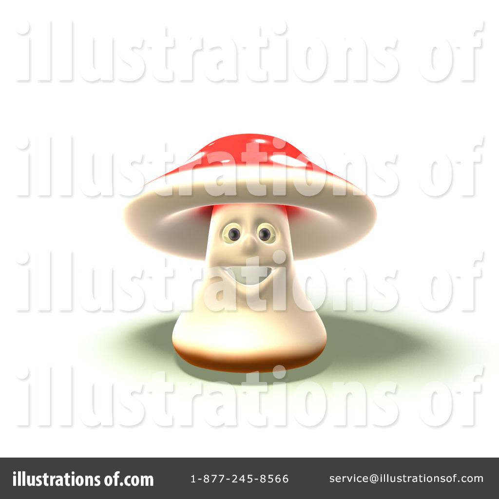 Fly Agaric Mushroom Character Clipart #56079.
