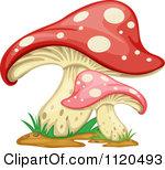 Clipart Of A Fly Agaric Mushroom House 1.