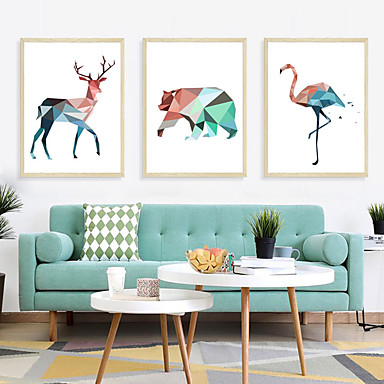 [$9.19] Geometric Animals Wall Stickers.