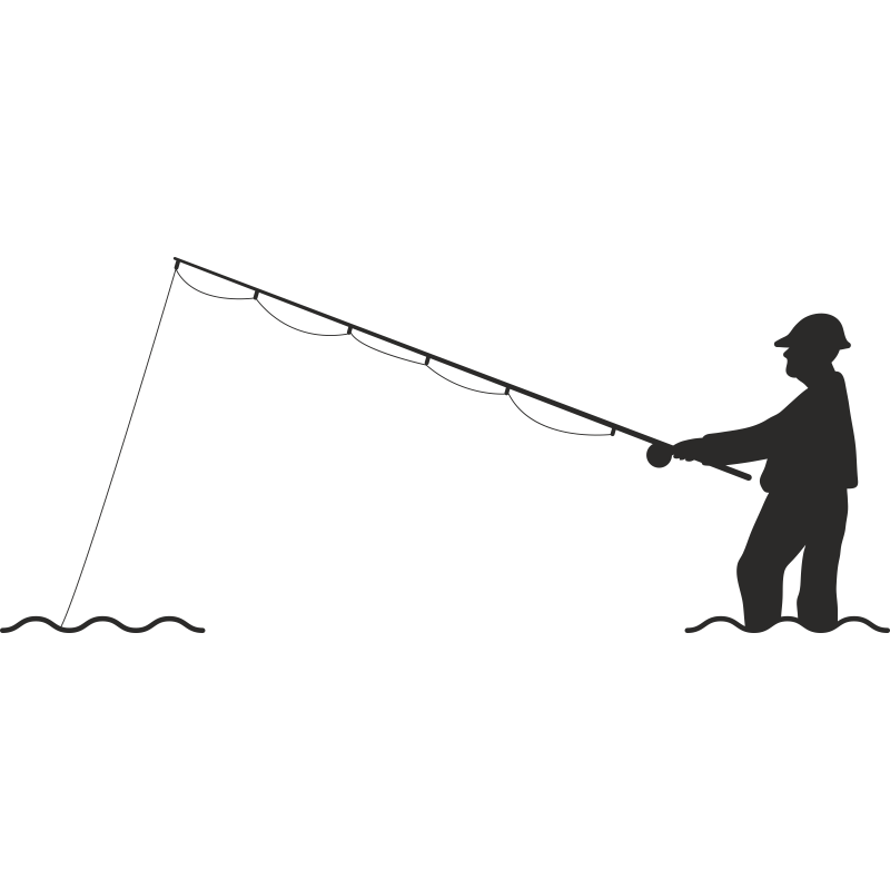 Vector graphics Fisherman Illustration Fly fishing.