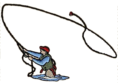 Fly Fishing Clipart.