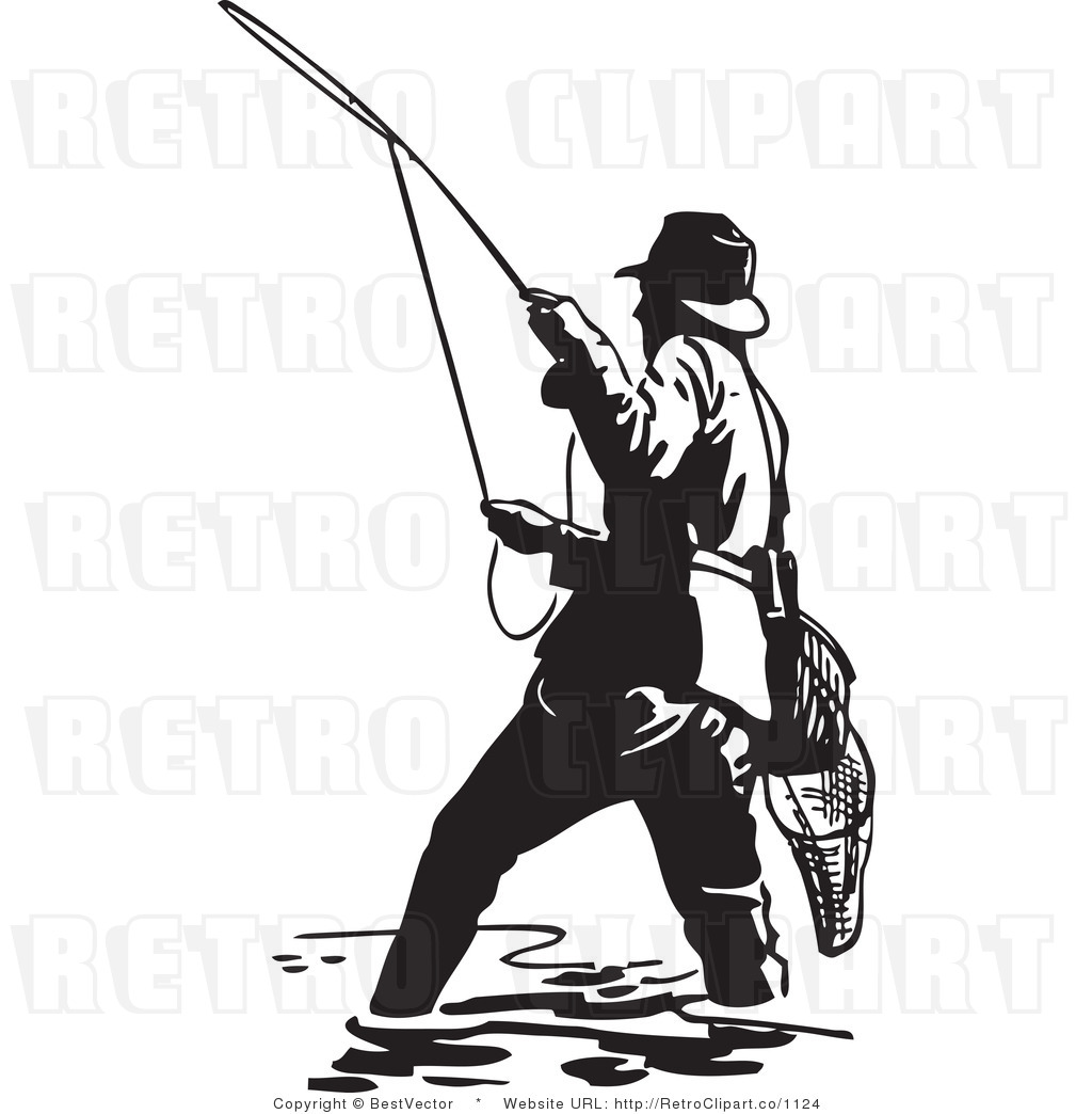Free fly fishing clipart.