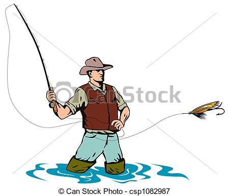 Fly fishing icon