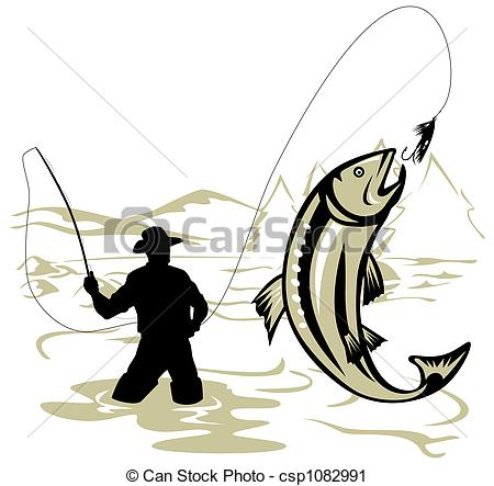 Trout fishing Stock Illustrations. 2,298 Trout fishing clip art.