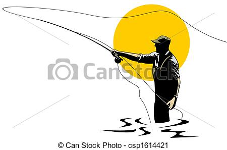 Fly fishing images clipart.
