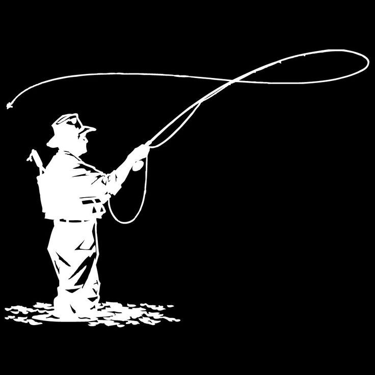 Image result for fly fishing silhouette clipart.