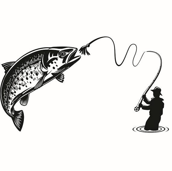 370 Fly Fishing free clipart.