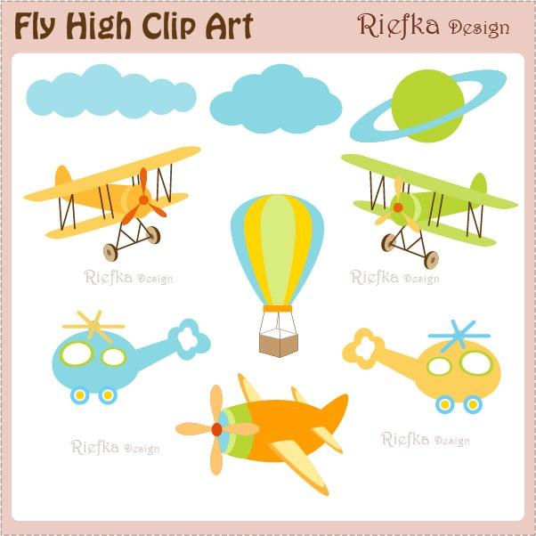 Fly High Clip Art.