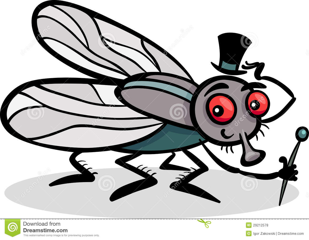 Cute house fly clipart.