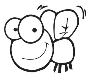 Clip Art Cartoon Fly Clipart.
