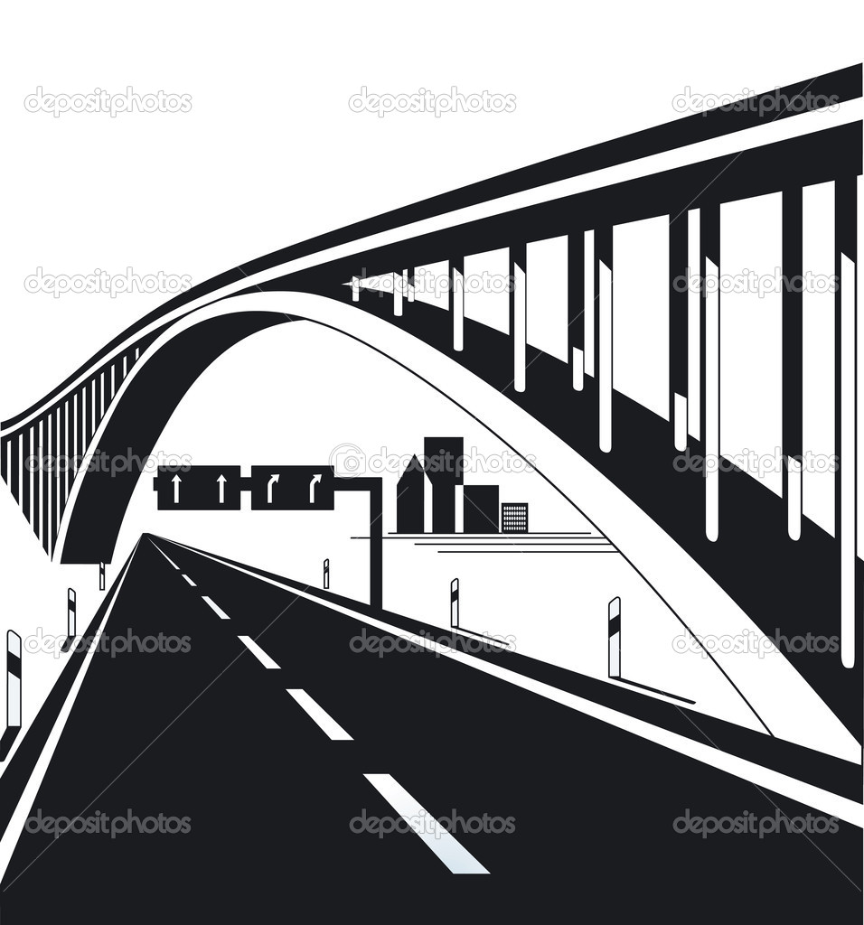 Highway bridge — Stock Vector © scusi0.