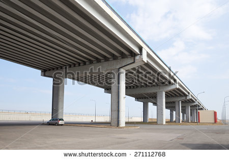 Flyover Bridge Stock Photos, Royalty.