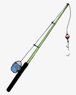 Free Fishing Rod Clip Art with No Background.
