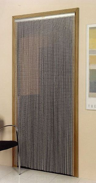 mesh chain metal doorway curtain.