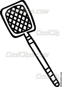 fly swatter Vector Clip art.