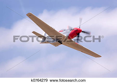 Stock Photograph of P51 Flyby k0764279.