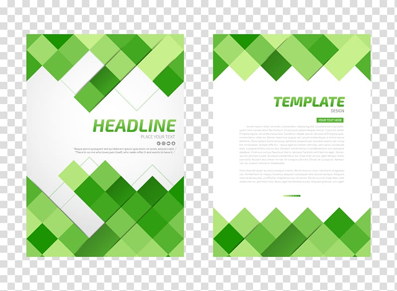 Two Headlight and Template posters, Flyer Paper, Green.