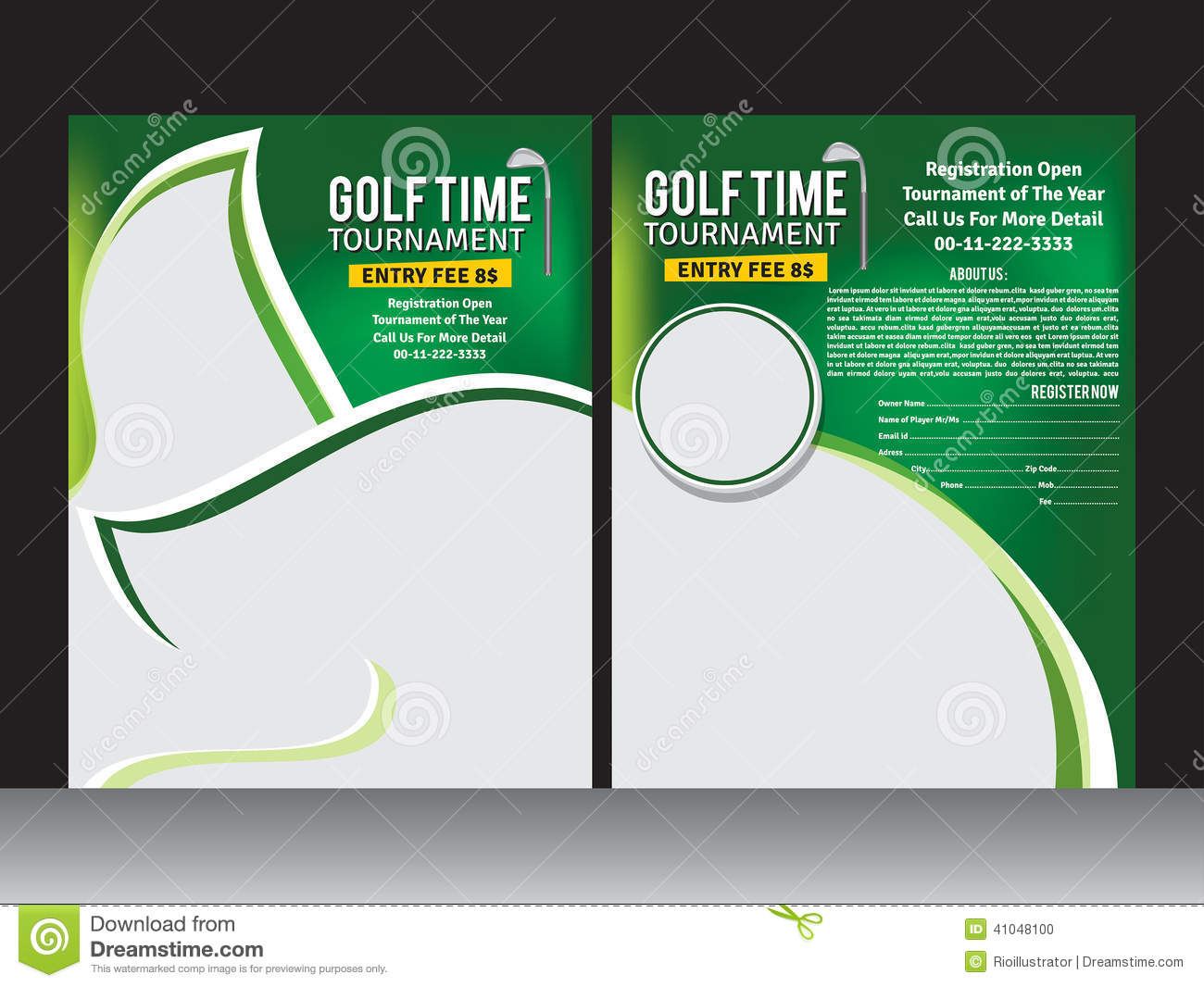 Golf For Flyer Clipart.