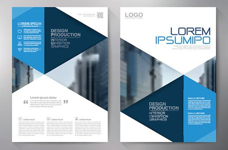 Business brochure flyer design a4 template Clipart Image.