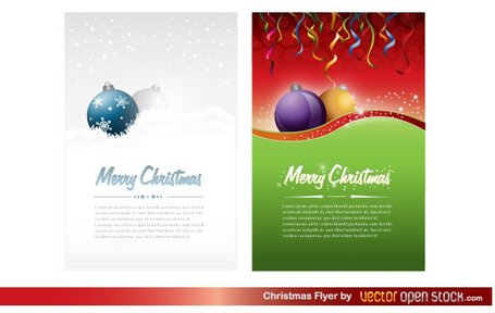 Free Christmas Party Flyer Template Clipart Picture.