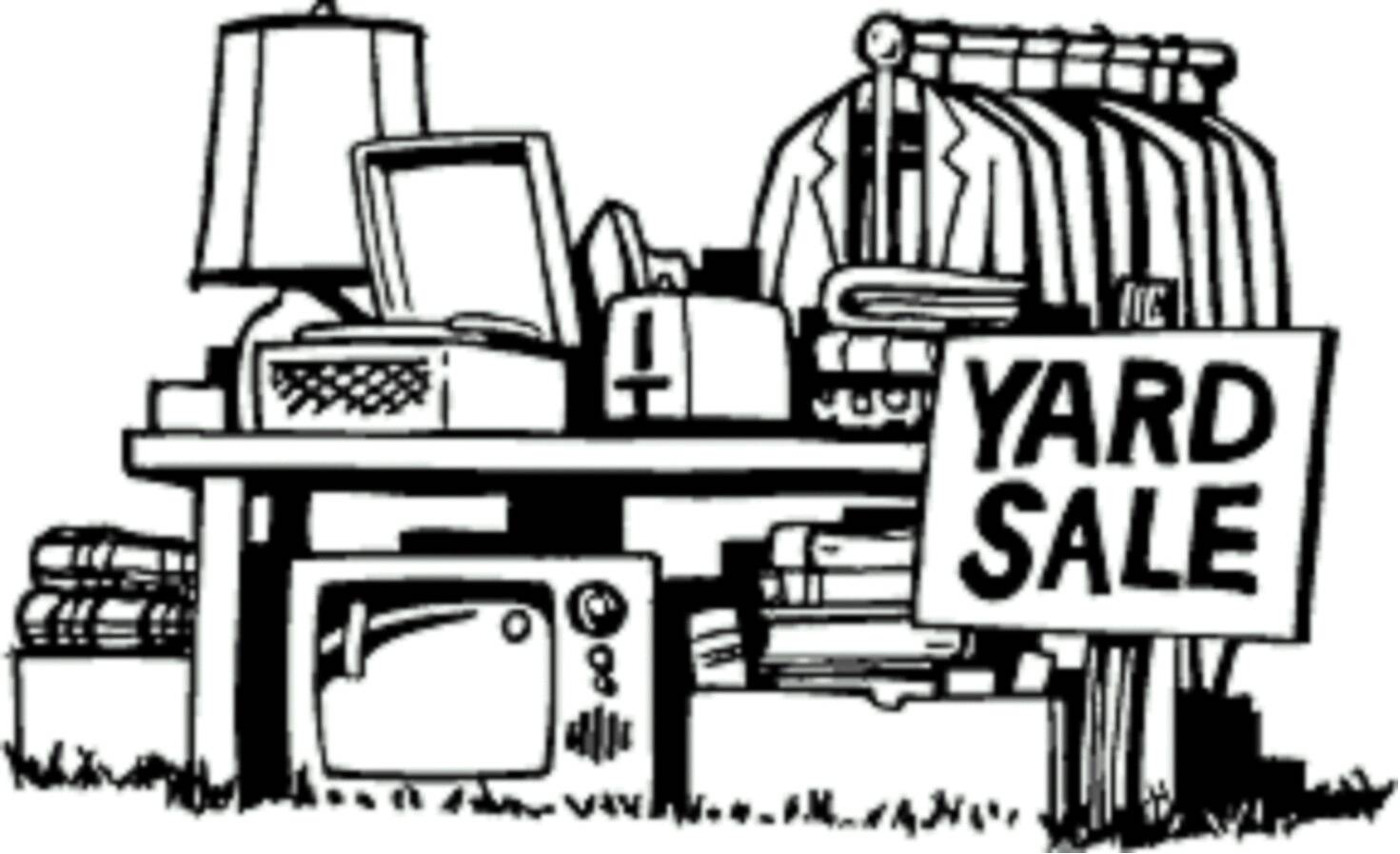 Garage sale yard sale flyers clipart 2.