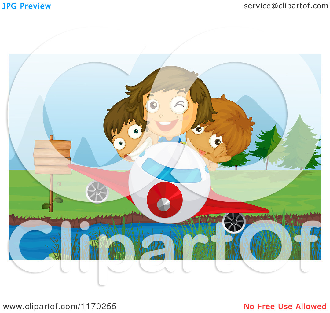 Kids Adventure Clipart Cartoon Of Adventurous Children Flying A.