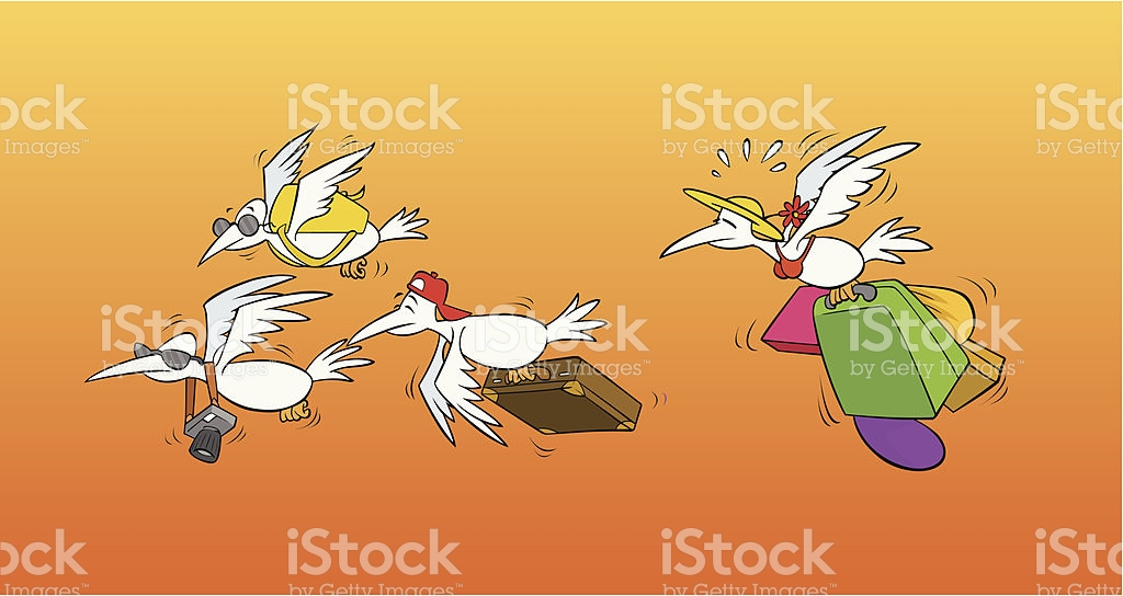 Migrating Birds Flying To South stock vector art 164420321.