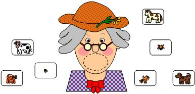 Clipart old woman flying kite.