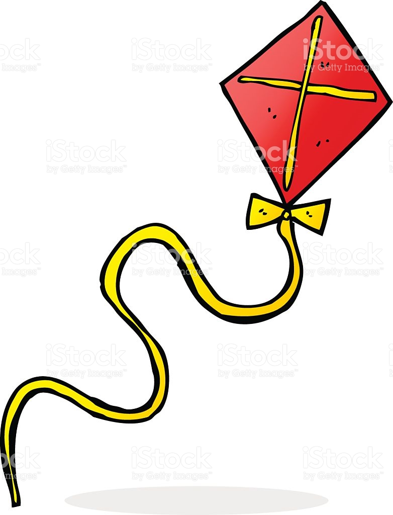 Cartoon Flying Kite stock vector art 516679500.