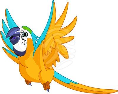 Pet Parrot Clipart.