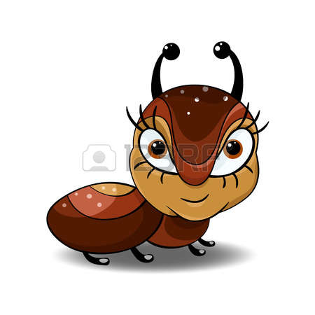 Flying ant big eyes clipart.