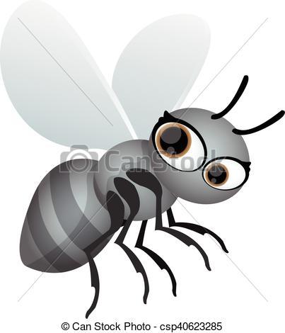 Vector of flying ant cartoon csp40623285.