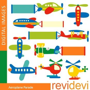 Clip art airplanes (plane, helicopter).