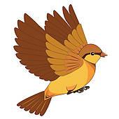 Flying Bird Clip Art.