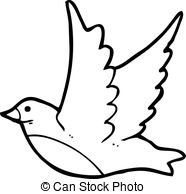 Flying bird clipart black and white 8 » Clipart Station.