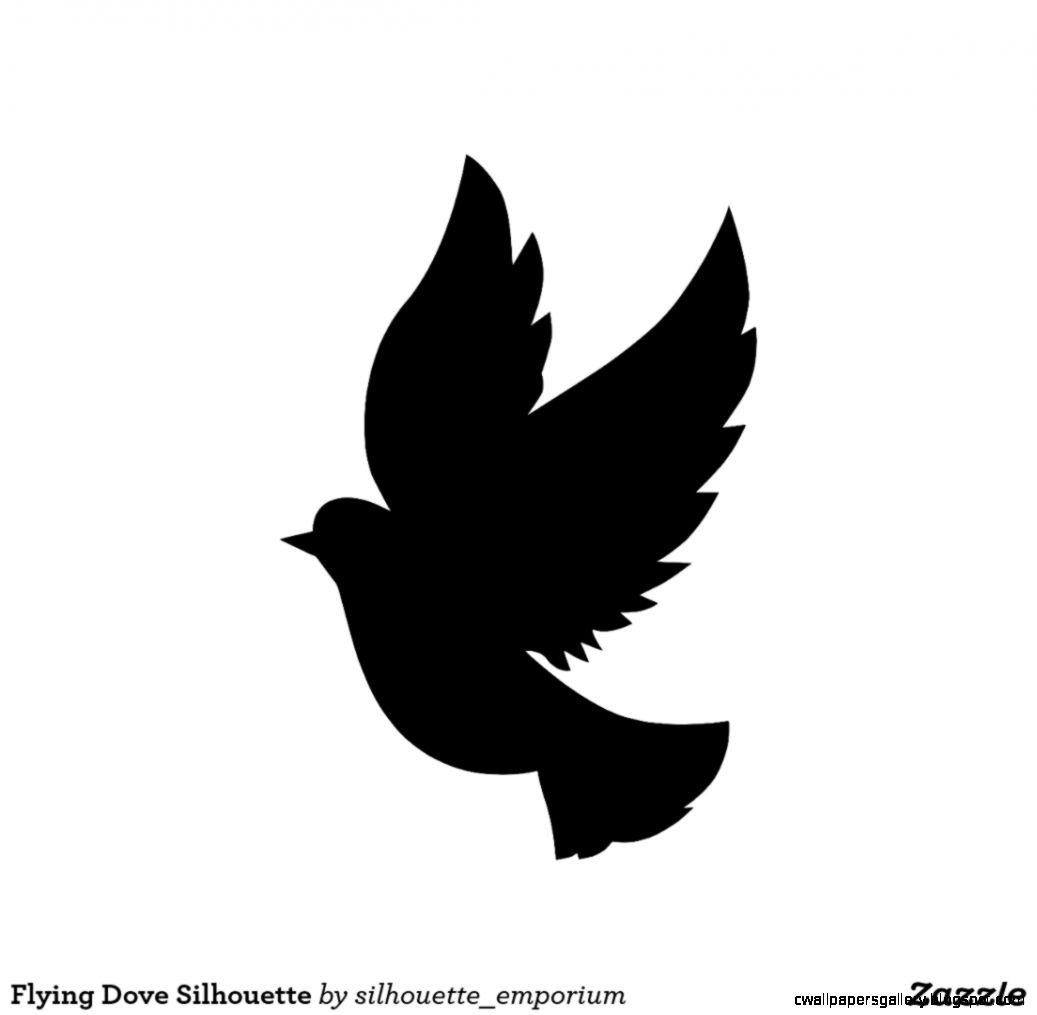 Single Flying Bird Silhouette Png.