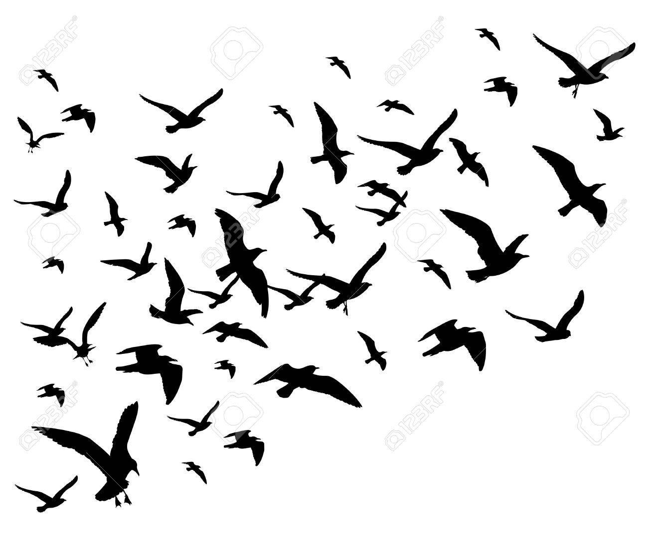 Flying birds clipart black and white 3 » Clipart Portal.
