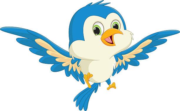 Best Bluebird Flying Illustrations, Royalty.