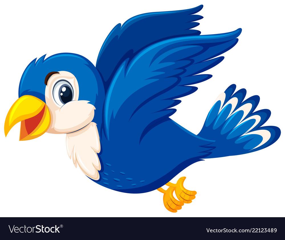 A cute blue bird flying.