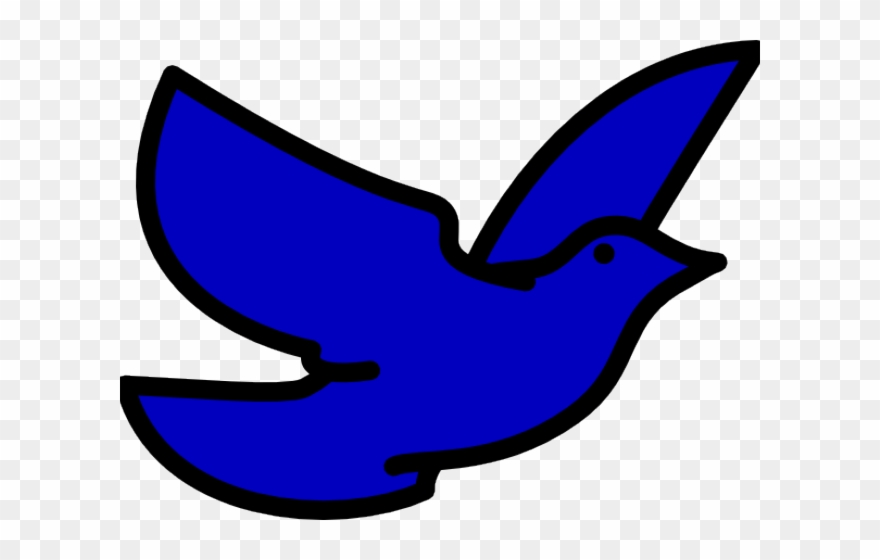 Bluebird Clipart Flying Blue.