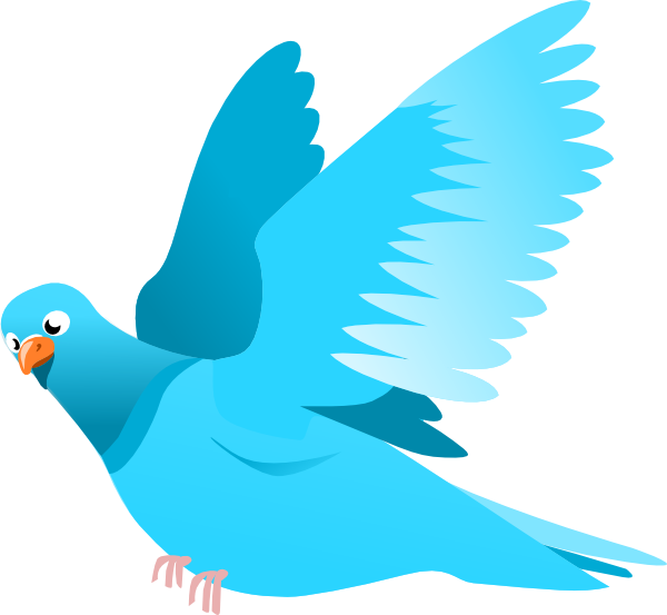 Flying Blue Bird Clipart Free.