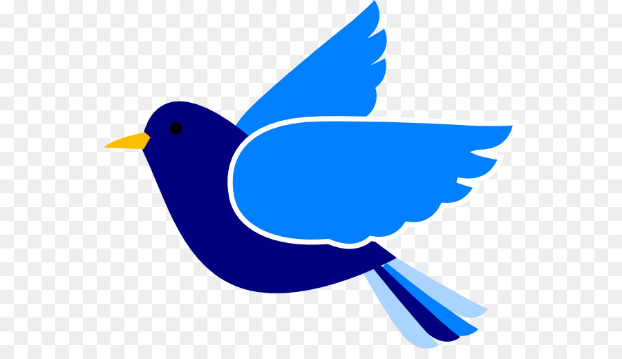 Blue Bird Flying Clipart.