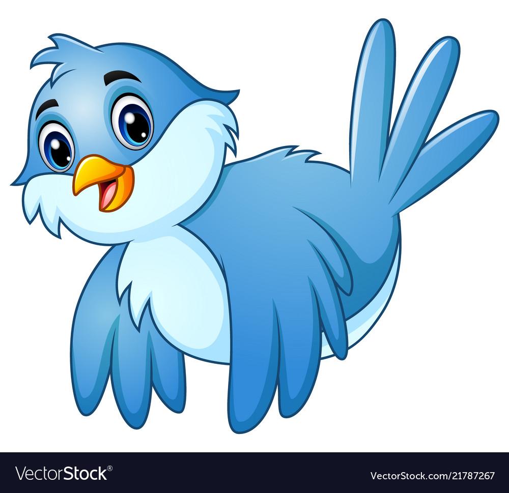 Blue bird flying in the sky.