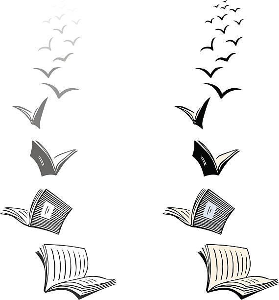 Best Books Flying Illustrations, Royalty.