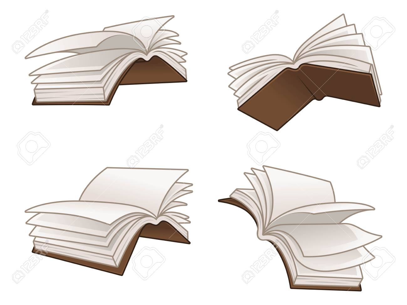 Flying books vector illustration design, isolated on white background,...