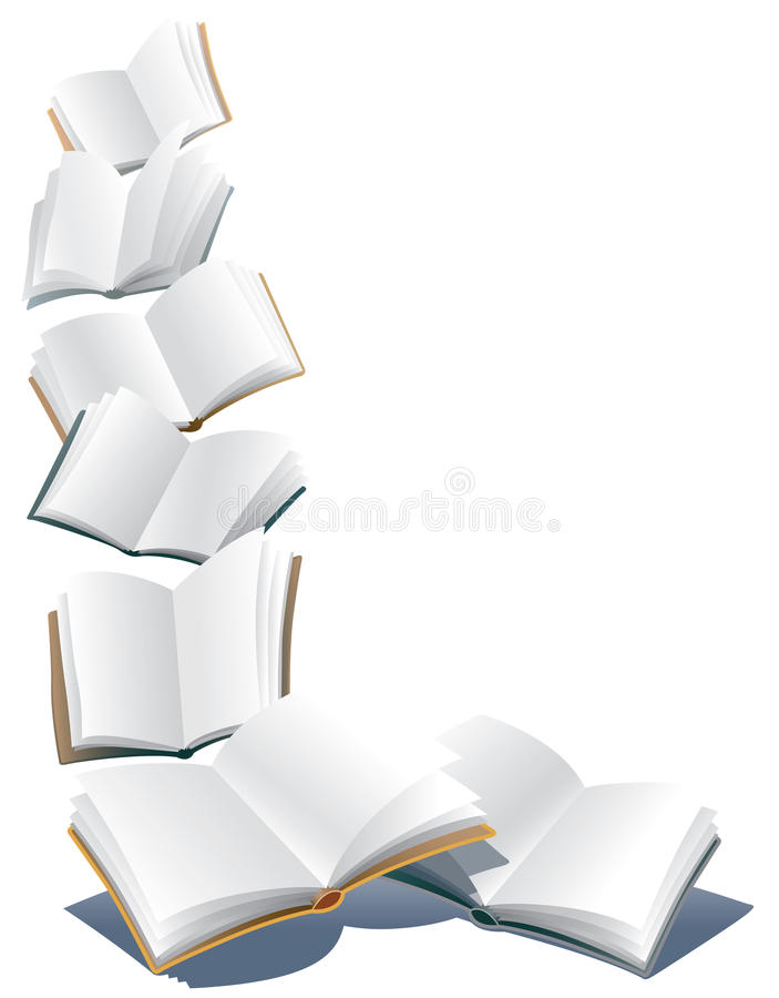 Flying Books Stock Illustrations.
